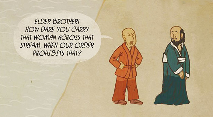 This Beautiful Zen Comic Teaches an Important Lesson About Compassion and Non-Attachment