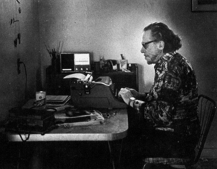 Charles Bukowski writing