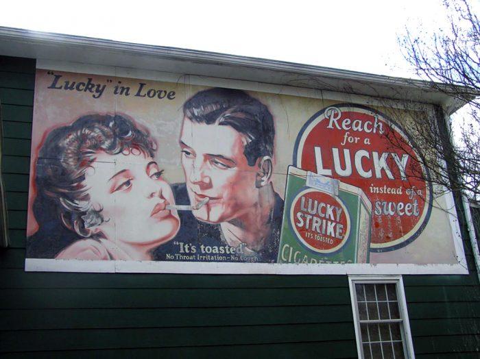 lucky strike old billboard