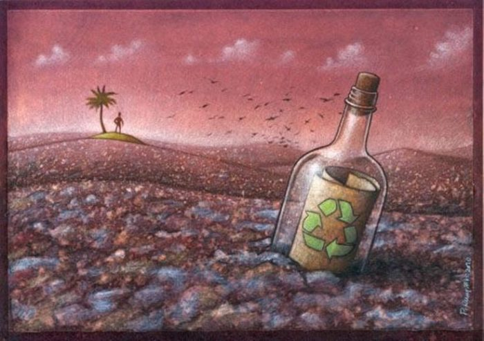 plastic pollution painting